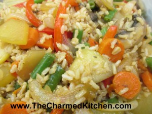 Fried Brown Rice with Veggies