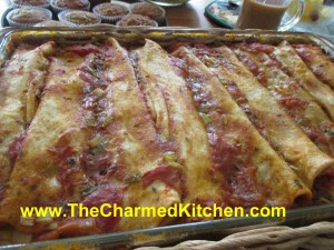 Rice and Beans Enchiladas - Vegan