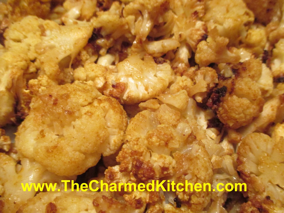 Curry Roasted Cauliflower | The Charmed Kitchen