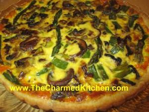 Mushroom, Leek and Asparagus Quiche
