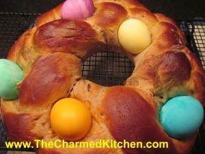 Easter Bread Wreath