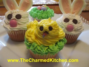Trio of Easter Cupcakes