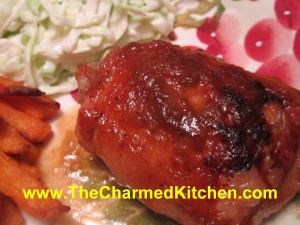 Chicken with Rhubarb Glaze