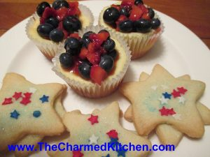 Berry Cheesecakes and Shortbread Stars