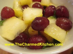 Pear and Grape Salad with Ginger Mint Dressing